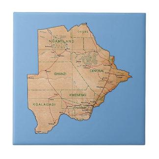 Carreau Tuile de carte du Botswana