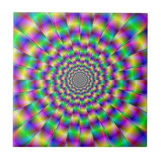 Carreau Tuile de cercles de couleur
