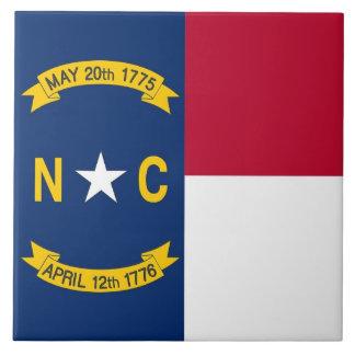 Carreau Tuile de drapeau d'état de la Caroline du Nord