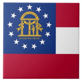 Carreau Tuile de drapeau d'état de la Géorgie