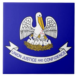 Carreau Tuile de drapeau d'état de la Louisiane