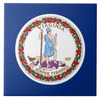 Carreau Tuile de drapeau d'état de la Virginie