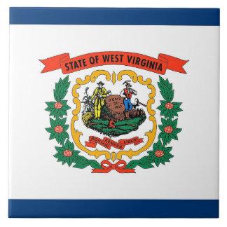 Carreau Tuile de drapeau d'état de la Virginie Occidentale
