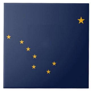 Carreau Tuile de drapeau d'état de l'Alaska
