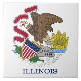 Carreau Tuile de drapeau d'état de l'Illinois