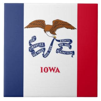 Carreau Tuile de drapeau d'état de l'Iowa