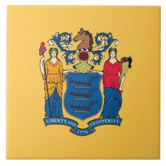 Carreau Tuile de drapeau d'état de New Jersey