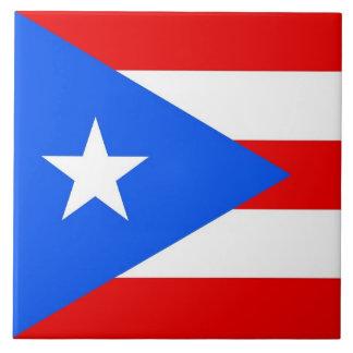 Carreau Tuile de drapeau d'état de Porto Rico