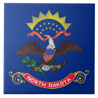 Carreau Tuile de drapeau d'état du Dakota du Nord