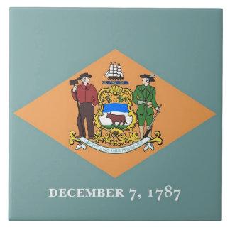 Carreau Tuile de drapeau d'état du Delaware