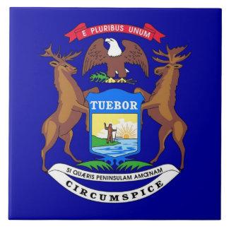 Carreau Tuile de drapeau d'État du Michigan