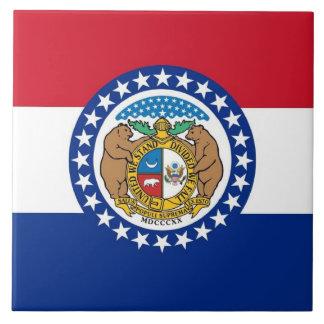 Carreau Tuile de drapeau d'état du Missouri