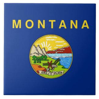 Carreau Tuile de drapeau d'état du Montana