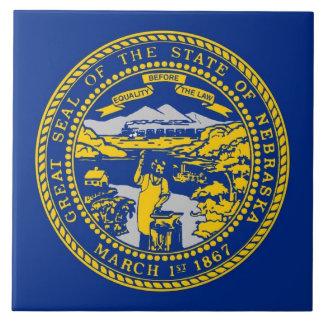 Carreau Tuile de drapeau d'état du Nébraska