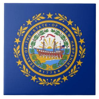 Carreau Tuile de drapeau d'état du New Hampshire
