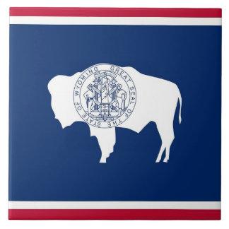 Carreau Tuile de drapeau d'état du Wyoming
