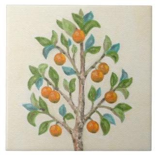 Carreau Tuile de mur d'arbre de mandarine