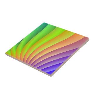Carreau Tuile de vague de couleur