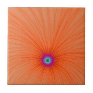 Carreau Tuile d'explosion de couleur de mandarine