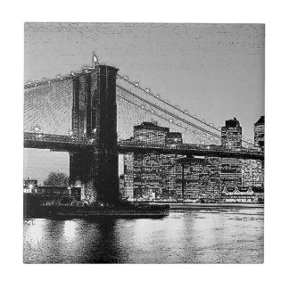 Carreau Tuile d'illustration de New York City de pont de