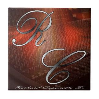 Carreau Tuile en céramique de photo de logo d'artiste la