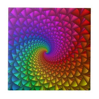 Carreau Tuile en spirale de transitoires d'arc-en-ciel