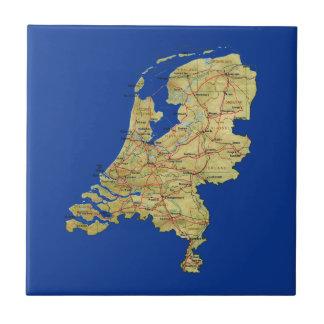 Carreau Tuile néerlandaise de carte