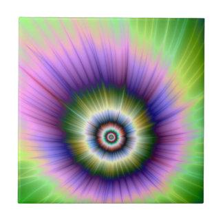 Carreau Tuile teinte nouée d'explosion de couleur