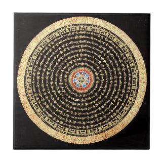Carreau Tuile tibétaine de mandala