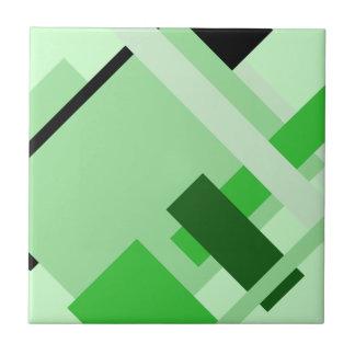 Carreau Tuile verte multi géométrique diagonale de motif