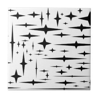 Carreau tuiles dégrossies d'étoile du noir 4