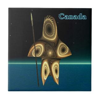 Carreau Tuvaaq - chasseur d'Inuit de fractale