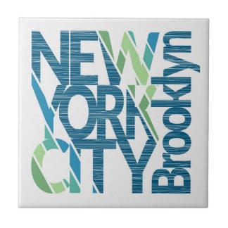 Carreau Typographie de Brooklyn New York