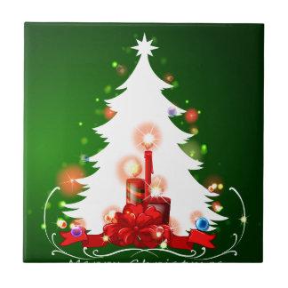 Carreau Un arbre de Noël blanc