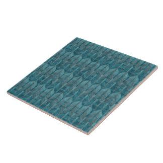 Carreau Un motif de vague bleu coloré abstrait moderne