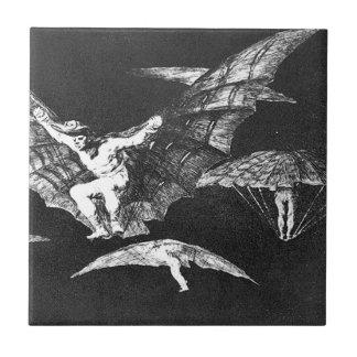Carreau Une manière du vol par Francisco Goya