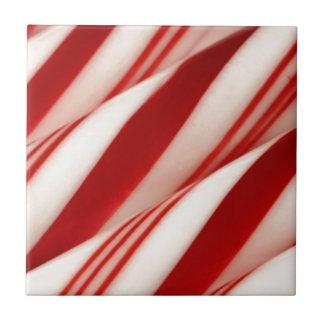 Carreau vacances blanches rouges de Noël de sucre de canne