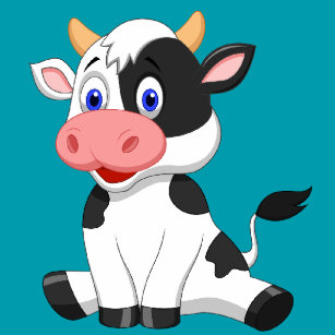 Carreaux Dessin De Vache En Céramique Zazzlebe