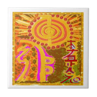 Carreau ver 2013. Symboles curatifs de REIKI