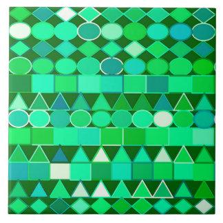 Carreau Vert géométrique et vert tribal moderne et Aqua