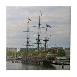 Carreau Vieux bateau de navigation, Amsterdam, Hollande