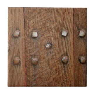 Carreau Vieux clous en bois d'antiquité de porte