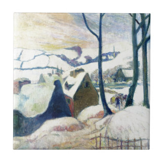 Carreau Village dans la neige par Paul Gauguin
