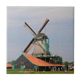 Carreau Village néerlandais de moulin à vent, Hollande 3