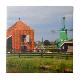 Carreau Village néerlandais de moulin à vent, Hollande 4