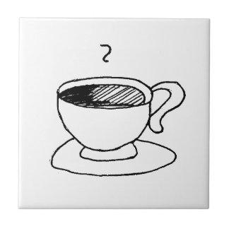 Carreau Vitesse de tasse de café de bande dessinée