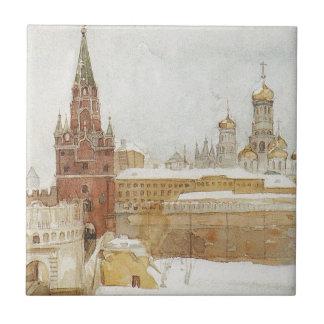 Carreau Vue de Kremlin à l'hiver par Vasily Surikov
