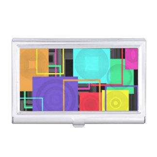 Carrés abstraits porte-cartes de visite