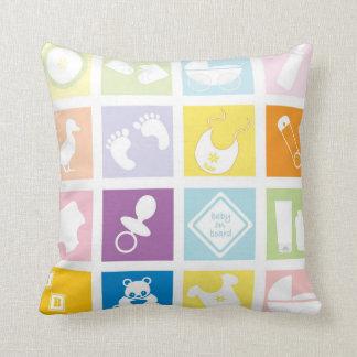 Carrés de bébé coussins carrés