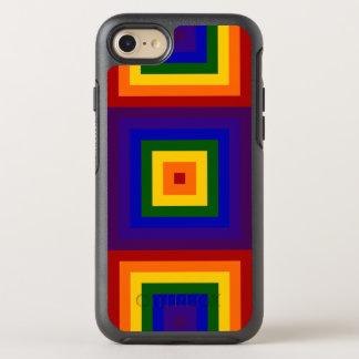 Carrés géométriques d'arc-en-ciel coque otterbox symmetry pour iPhone 7